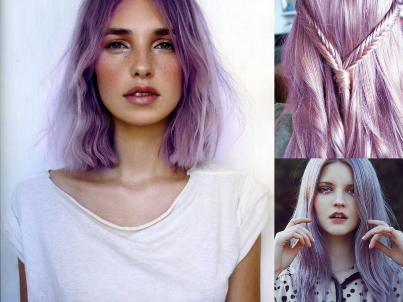 färga håret lila hemma
